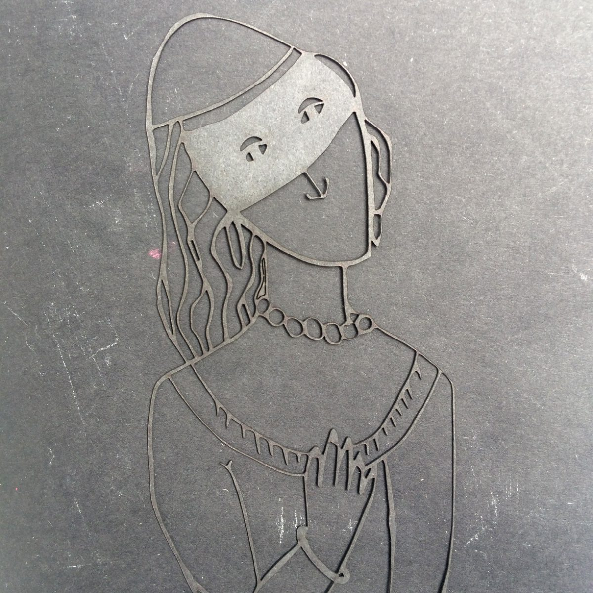 Lasercut lady