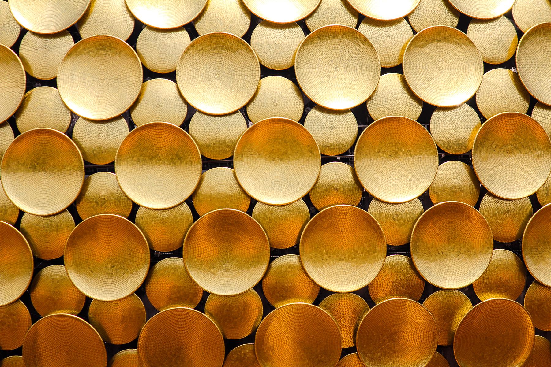 The Golden Discs of Matrimandir, Auroville.